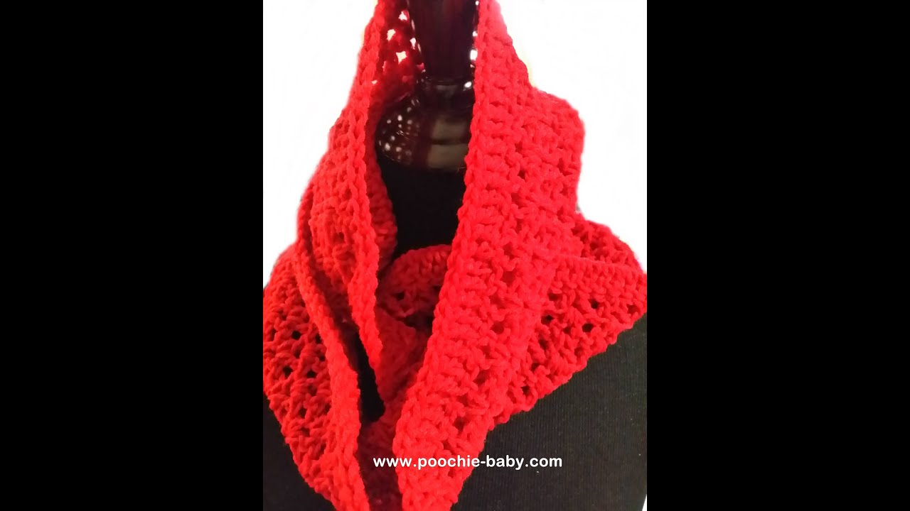 Crochet Scarf Patterns Youtube : Catalina Infinity Scarf - Crochet Pattern Tutorial - YouTube