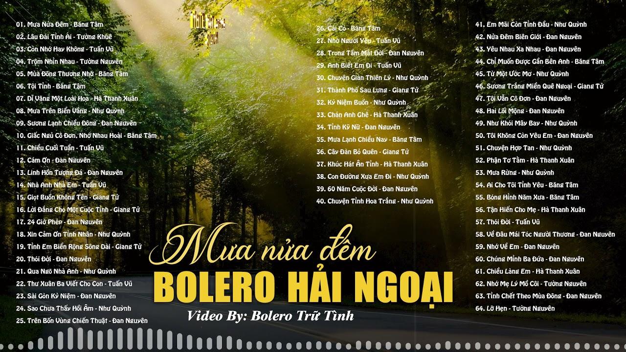 Nhạc Vàng Hải Ngoại | 64 Bài Nhạc Vàng Bolero Xưa Chọn Lọc Hay Nhất |Tuyệt Phẩm Nhạc Vàng Bolero Xưa