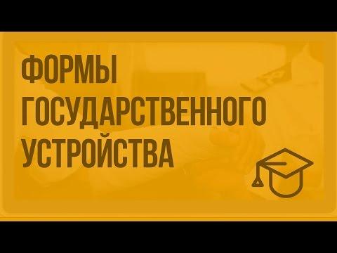 Формы государственного устройства.
