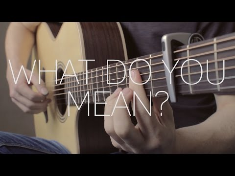 Justin Bieber - What Do You Mean? - Fingerstyle Guitar Cover by James Bartholomew