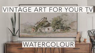 Watercolour | Vintage Art Slideshow for your TV | 1hr of 4K HD Paintings.