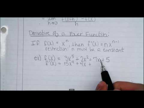3.4 Derivative of the Power Function and another Definition