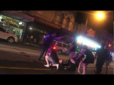 Brawl Outside Bar On Sydney Road, Melbourne