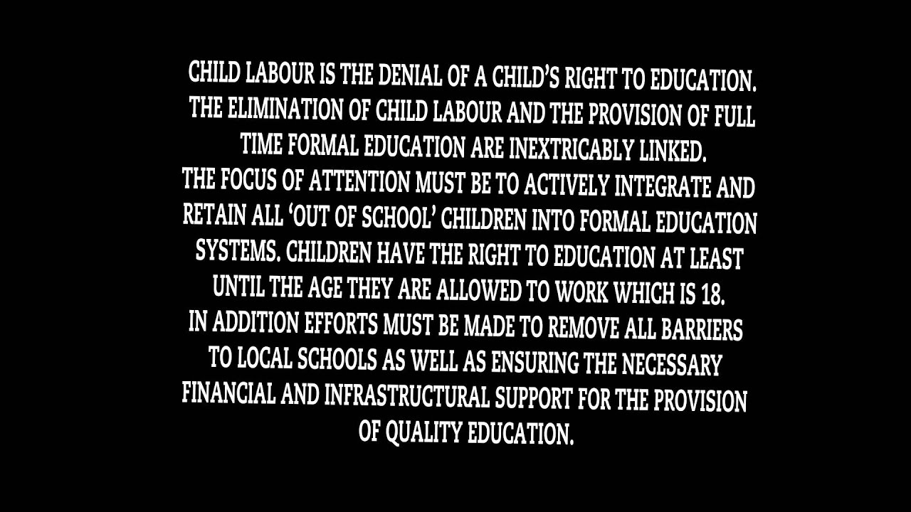 stop child labour  stop child labour