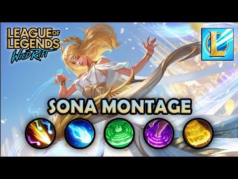 WILD RIFT: SONA Montage | Best Gameplays | Beta Test | League of Legends