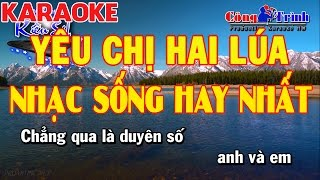 Karaoke | Yêu Chị Hai Lúa Cha Cha Cha Remix | Full Beat | Keyboard Kiều Sil | Nhạc Sống Công Trình