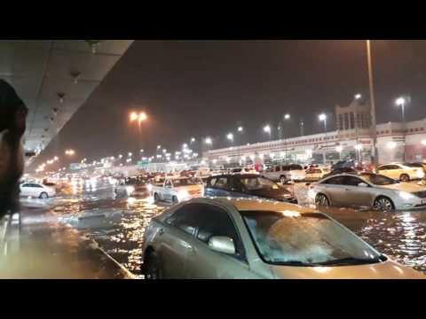Heavy rain in Dammam, Saudi Arabia 16/02/2017