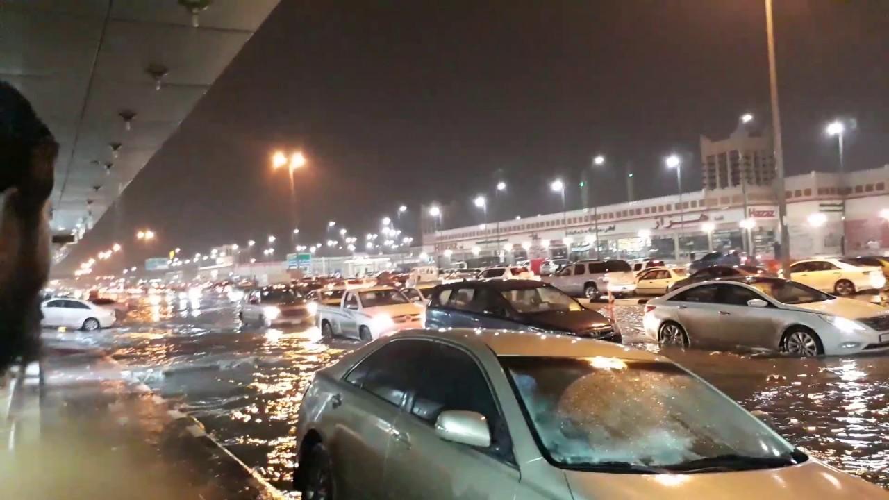 Heavy Rain In Dammam Saudi Arabia 16 02 2017 Youtube