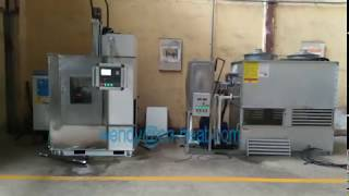 a set of CNC quenching machine tool working video