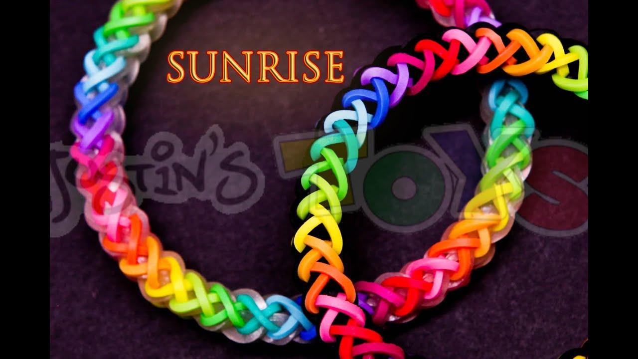 How To Make A Sunrise  Justinstoyshybrid Rainbow Loom Bracelet Tutorial