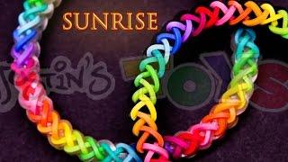 Repeat youtube video How to Make a Sunrise #justinstoyshybrid Rainbow Loom Bracelet Tutorial