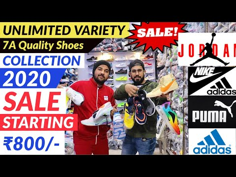 Cheapest shoes in Delhi | Shoes Market | Branded Original 7A Quality Shoes