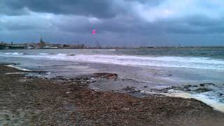 Alghero with Mistral wind 10 Jan 2013