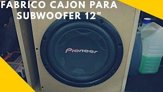 Proyecto Hacer Cajón Porteado para Subwoofer 12'   Caceres406