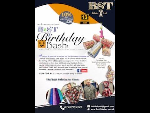 BST Fabrics 1st Birthday BASH  :)