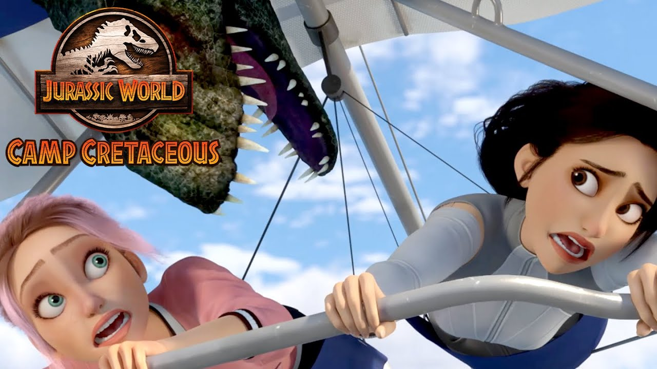 Download Flying With Dimorphodons | JURASSIC WORLD CAMP CRETACEOUS | NETFLIX