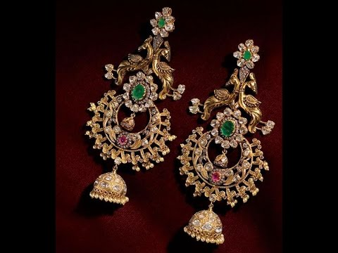 Latest Gold Chandbali Earrings
