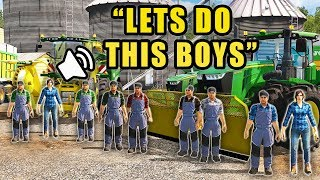 MULTIPLAYER SILAGE HARVEST WITH 12 HIRED HANDS! CHOPPING CORN | FARMING SIMULATOR 2017