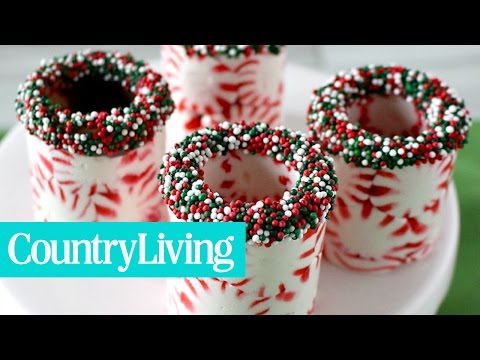 How to Make Peppermint Shot Glasses | Country Living