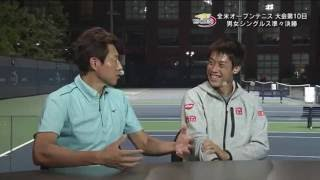 Kei Nishikori QF studio interview | US Open 2016