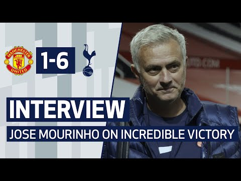 INTERVIEW   JOSE MOURINHO ON INCREDIBLE VICTORY AT OLD TRAFFORD   Man United 1-6 Spurs