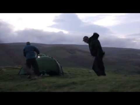 Hilleberg Soulo's and Akto battling upto 85mph winds Wild Camping fun