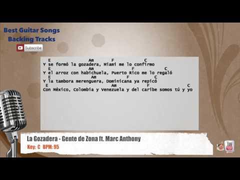 La Gozadera - Gente de Zona ft. Marc Anthony Vocal Backing Track with chords and lyrics