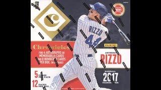 Box Busters: 2017 Panini Chronicles Baseball