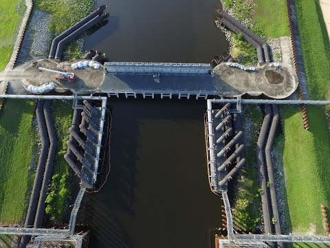 London Ave Canal Pump Station Drone Video