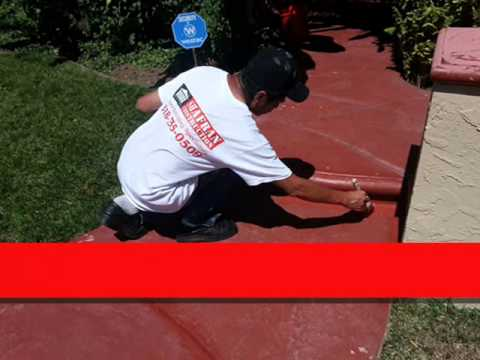 Downtown Los Angeles Cement Stain call Shafran 310 295 1960