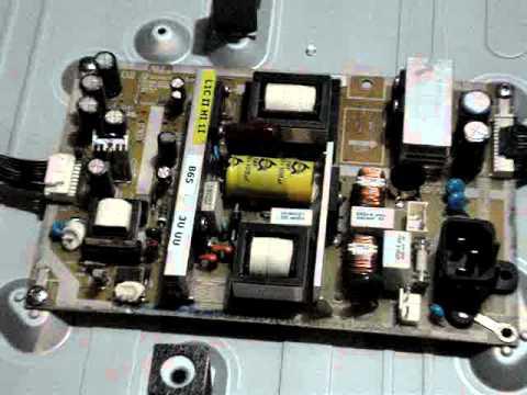 Tv lcd samsung ln32c450e1d problema de fuente youtube for Reparar pantalla televisor samsung