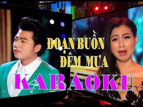 karaoke Tân cổ ĐOẠN BUỒN ĐÊM MƯA | HỒ MINH ĐƯƠNG & TRỊNH NGỌC HUYỀN song ca beat chuẩn.
