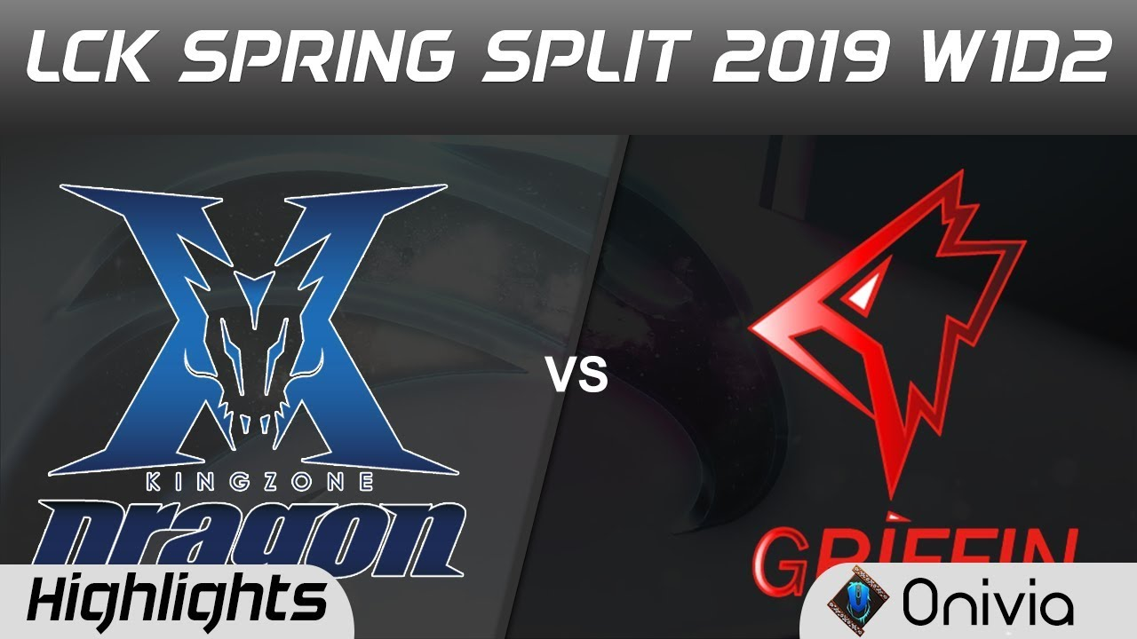 KZ vs GRF Highlights Game 2 LCK Spring 2019 W1D2 Kingzone DragonX vs Griffin by Onivia