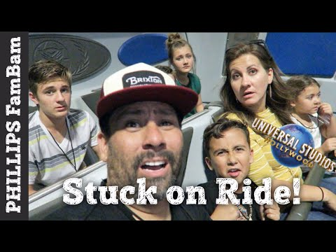 UNIVERSAL STUDIOS HOLLYWOOD | STUCK on TRANSFORMERS RIDE | U