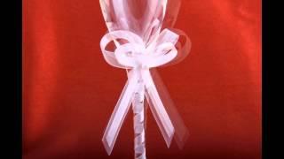 Свадебные бокалы с бантами из лент