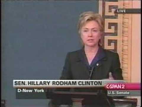 Hillary Clinton Iraq War Full Speech 10/10/02 Part 2