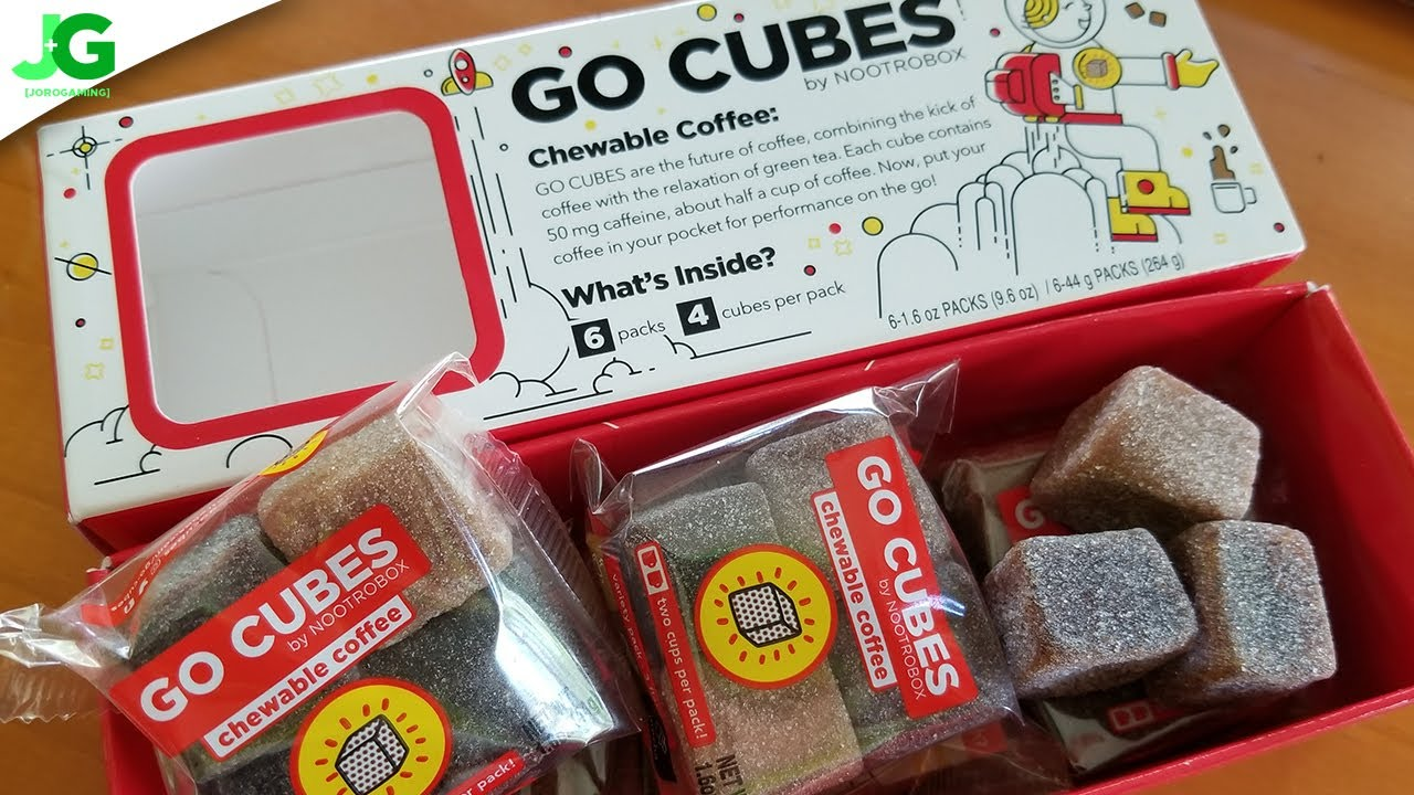 Trying The Worlds First Chewable Coffee Nootrobox Go Cubes Youtube