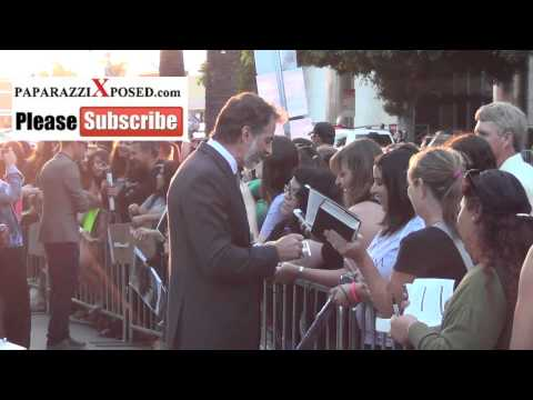 Harry Van Gorkum greets  outside premiere of The Mortal Instruments City of Bones at ArcLight Th