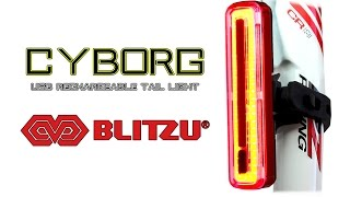 The Best USB Rechargeable Bike Tail Light - Blitzu Cyborg 180T Bicycle Tail Light