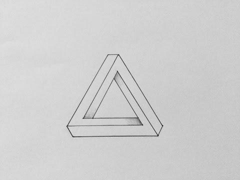 Comment Dessiner Un Triangle Impossible Illusion D Optique Youtube