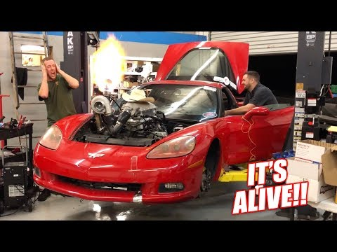The Auction Corvette COMES TO LIFE w/New Turbo Setup! (Launch Control is Unreal)