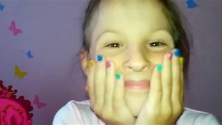 Разноцветный  Маникюр из бульонок