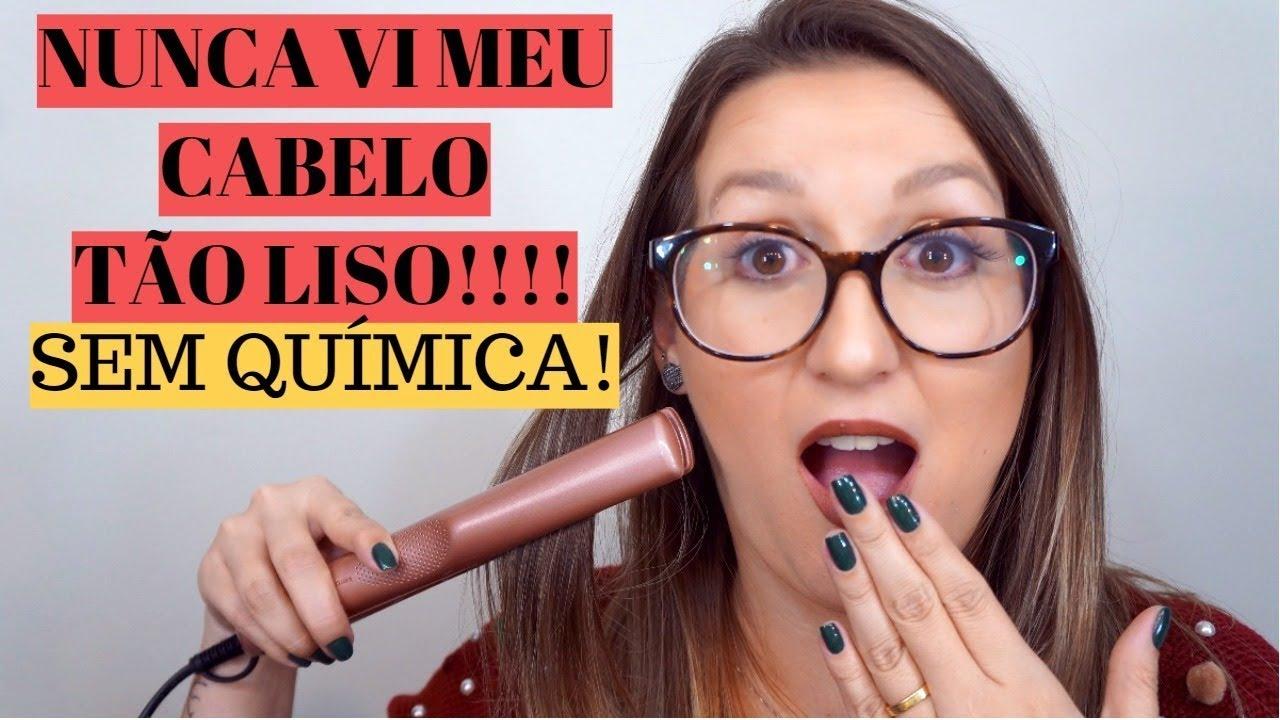 98430cc33 NUNCA VI MEU CABELO TÃO LISO!!! - PRANCHA KERATION GAMA - YouTube
