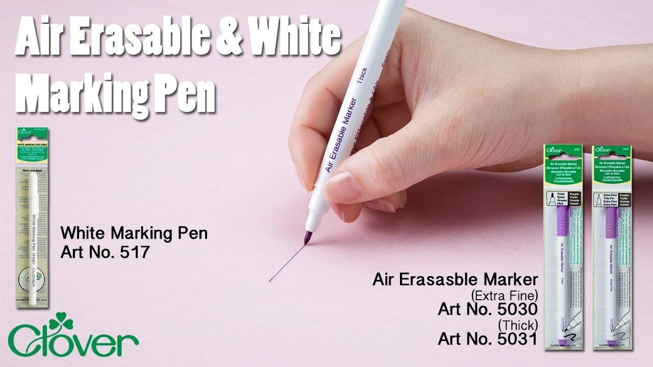 Clover Water-Soluble Marking Pen Fine-White