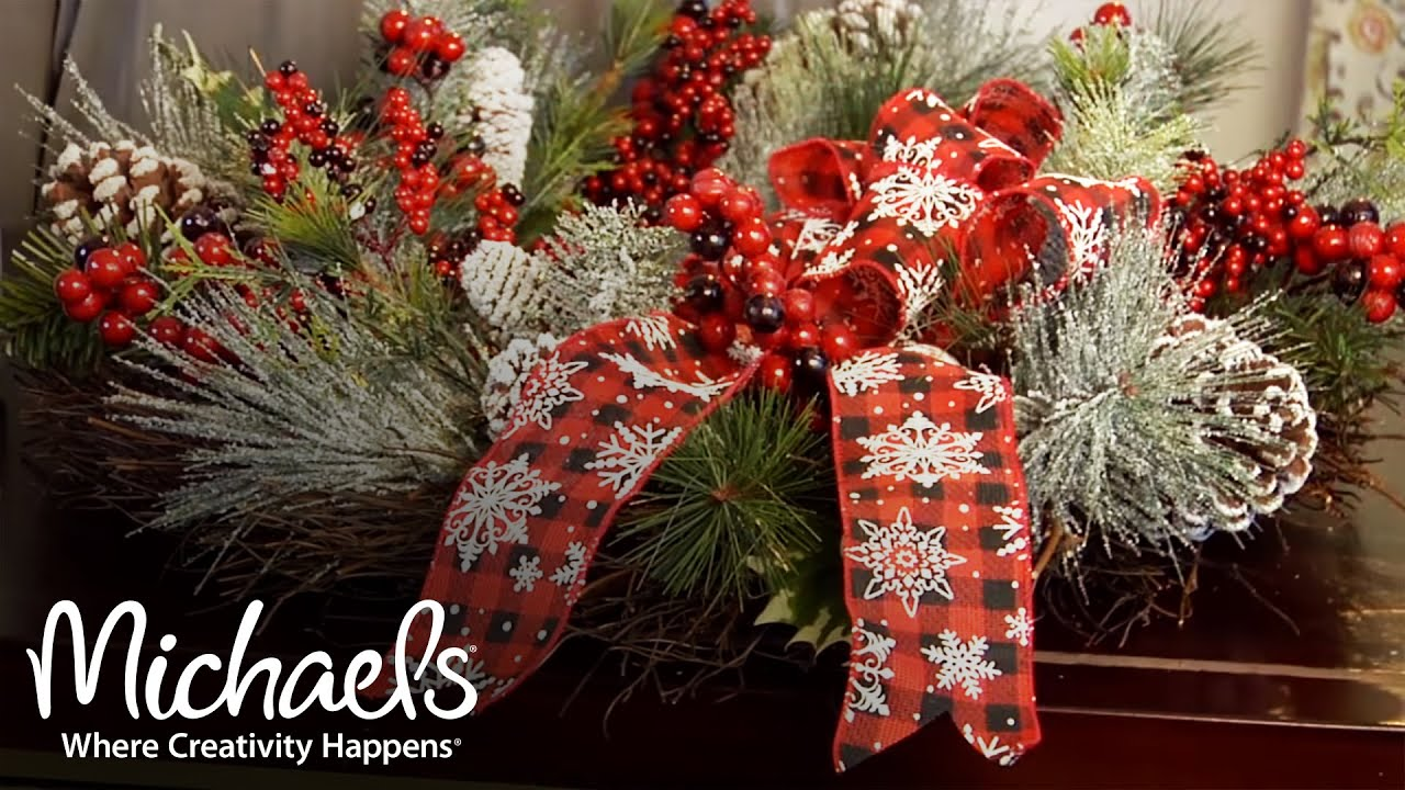 holiday decorations bows ribbon garland ideas michaels youtube - Christmas Ribbon Decorations