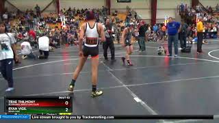 Middle School 102 Trae Thilmony Bluehawk Wrestling Club Vs Ryan Vigil Bear Cave