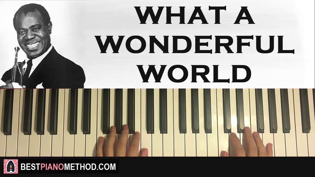 play what a wonderful world by louis armstrong