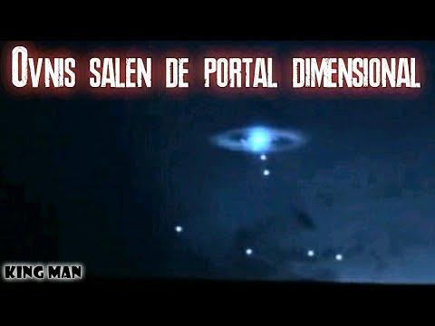 Autentico Portal Dimensional es grabado en el preciso momento en que le salen ovnis de su interior