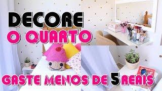 Decoração para o quarto – penteadeira suspensa – parede Poá – cama decorada