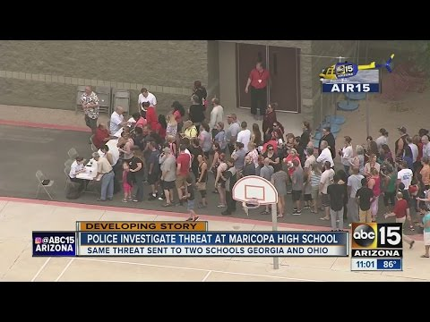 Maricopa High School locked down due to bomb threat on campus